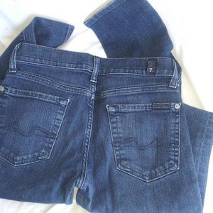 7 FOR ALL MANKIND Roxanne Skinny Jeans SZ 26